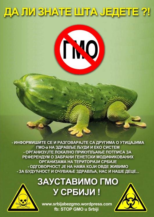 plakat GMO
