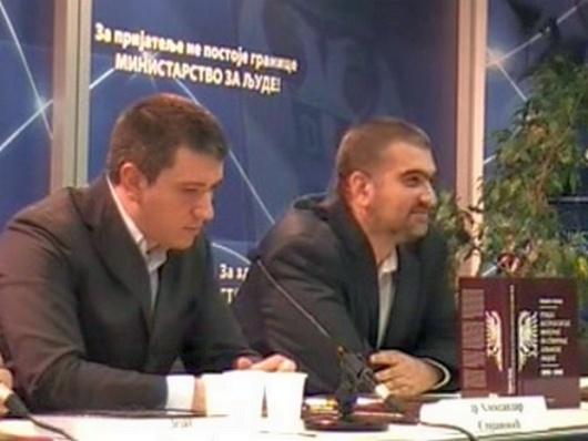 Једни од учесника презентације Теодорине књиге, др Александар Стојановић историчар, и Горан Игић преводиоц са бугарског, и новинар